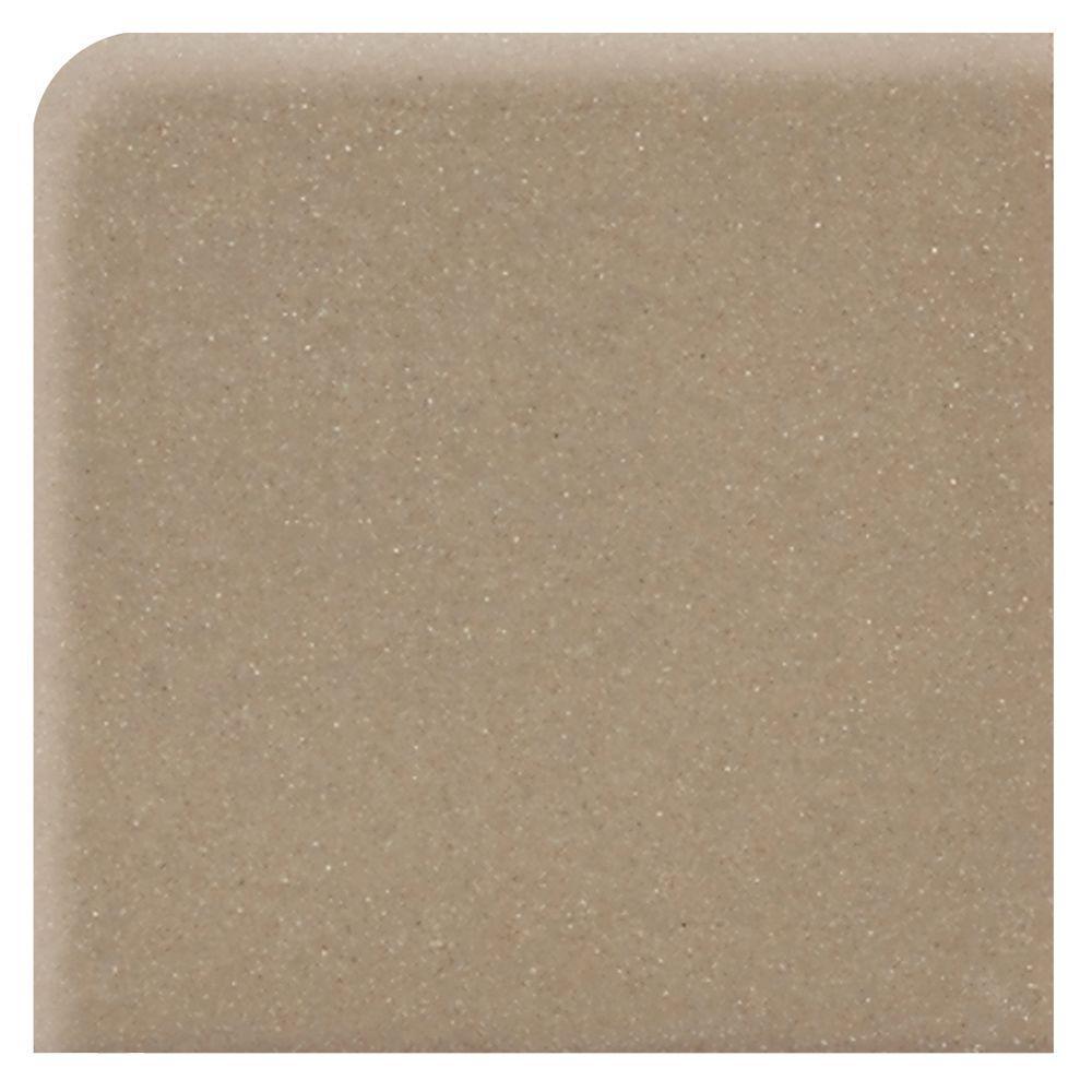Matte Elemental Tan 6 in. x 6 in. Ceramic Bullnose Corner