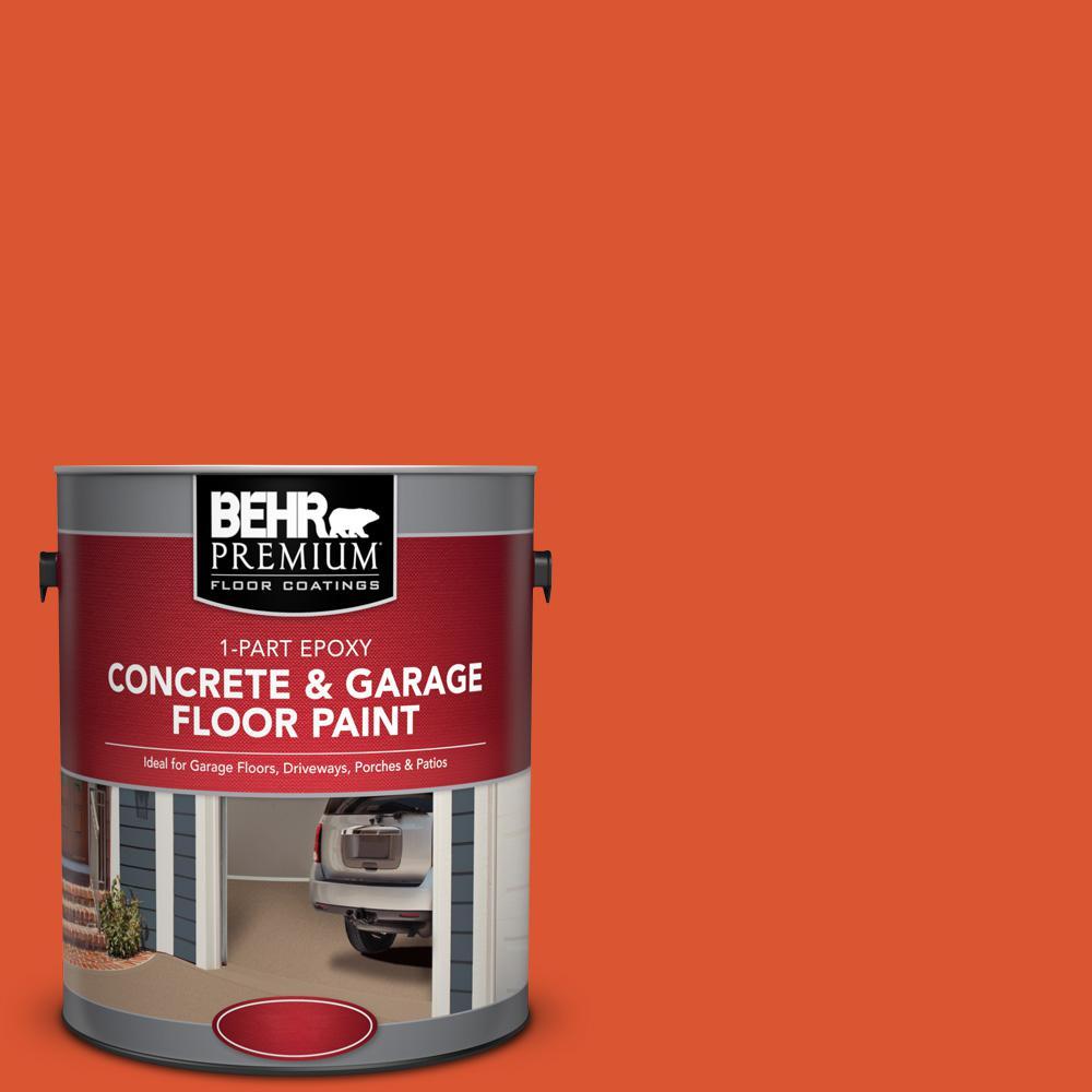 1 gal. #P190-7 Inferno 1-Part Epoxy Concrete and Garage Floor Paint