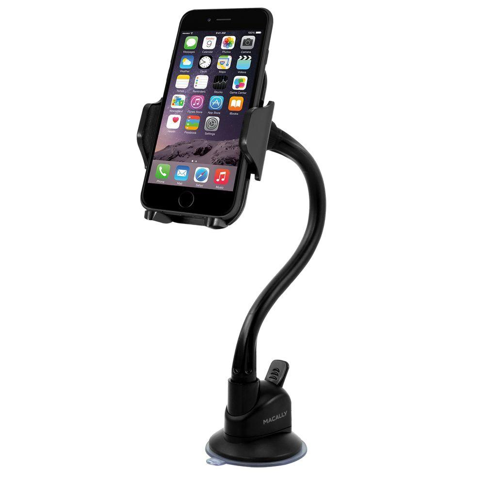 Macally Suction Cup Holder For Iphone Ipod And Other Mobile Devices Mgrip The Home Depot
