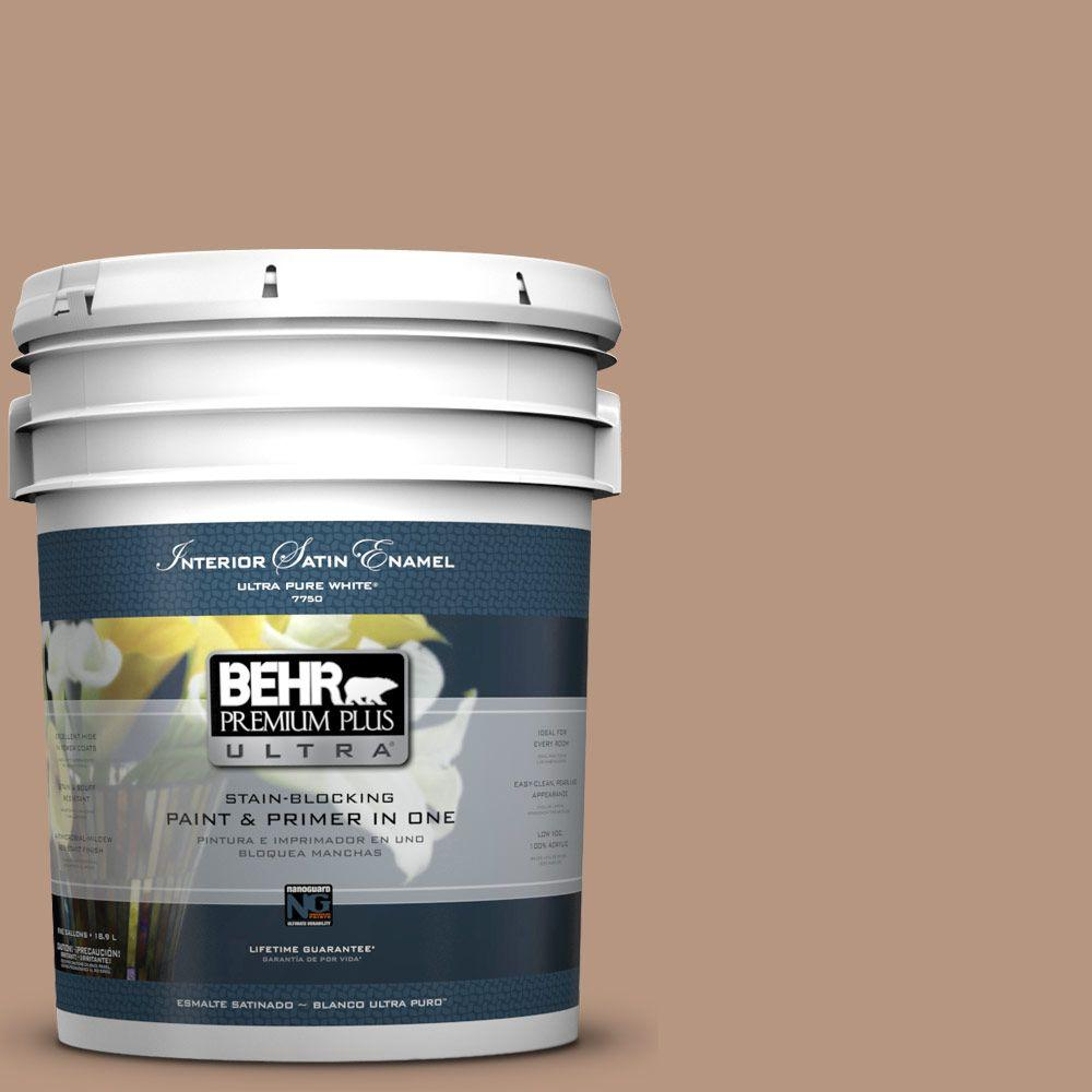 BEHR Premium Plus Ultra 5-gal. #S220-4 Potter's Clay Satin Enamel Interior Paint