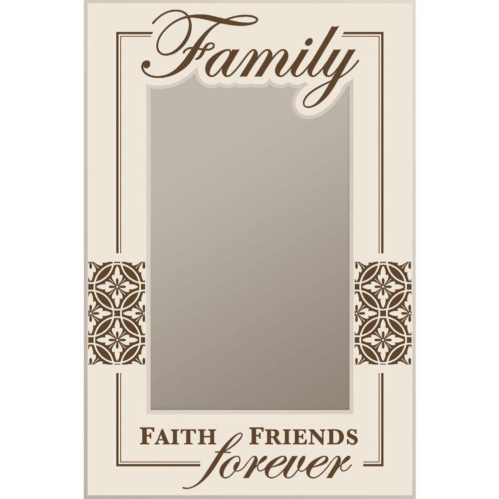 P. Graham Dunn 19.75 in. x 29.75 in. White Wood Family Framed Mirror