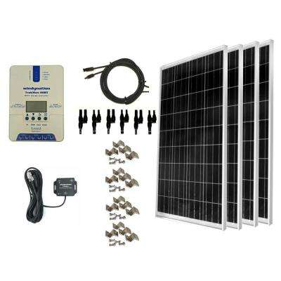 400-Watt Off-Grid Polycrystalline Solar Panel Kit with TrakMax MPPT 40 Amp Solar Charge Controller and Bluetooth Adapter