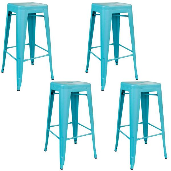 Super Osp Home Furnishings Bristow 26 In Antique Sky Blue Bar Customarchery Wood Chair Design Ideas Customarcherynet