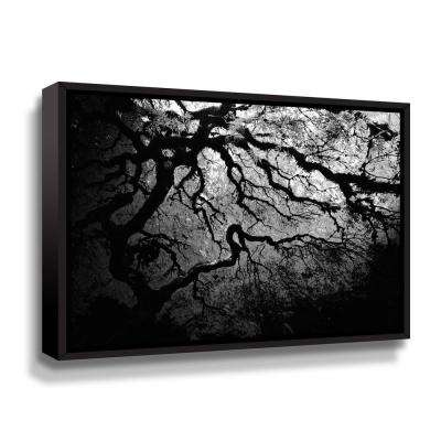 """Japanese Ying and Yang Tree"" by John Black Framed Canvas Wall Art"