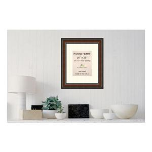 Amanti Art Cyprus 10 inch x 13 inch White Matted Brown Walnut Picture Frame by Amanti Art