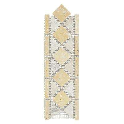 Venezia Beige/Cream 3 in. x 12 in. x 8 mm Travertine Decorative Accent Floor/Wall Tile