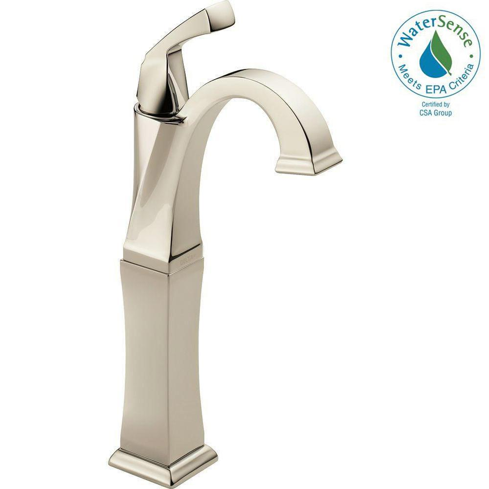 Dryden Single Hole Single-Handle Vessel Bathroom Faucet in Polished Nickel