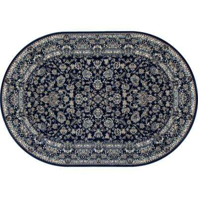 Kensington Timeless Navy 4 ft. x 6 ft. Oval Area Rug