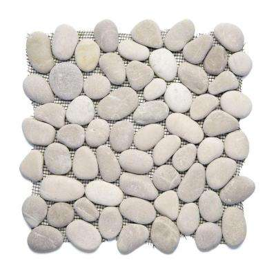 River Rock Brookstone 12 in. x 12 in. x 12.7 mm Natural Stone Pebble Mosaic Floor and Wall Tile (10 sq. ft. / case)