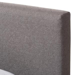 Pleasant Baxton Studio Harlow Gray Queen Upholstered Bed 28862 7114 Onthecornerstone Fun Painted Chair Ideas Images Onthecornerstoneorg