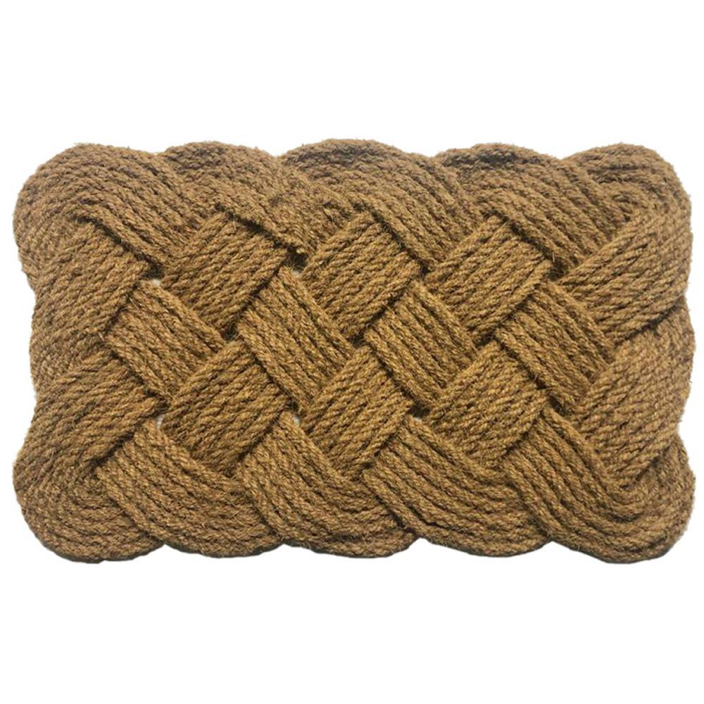 Rope Natural 22 in. x 36 in. Coir Door Mat
