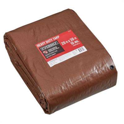 20 ft. x 30 ft. Brown/Silver Heavy Duty Tarp