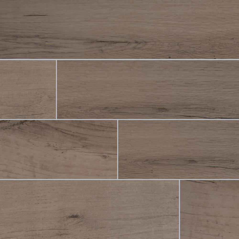 Arbor Fog 6 in. x 36 in. Matte Porcelain Floor and Wall Tile (15 sq. ft. / case)
