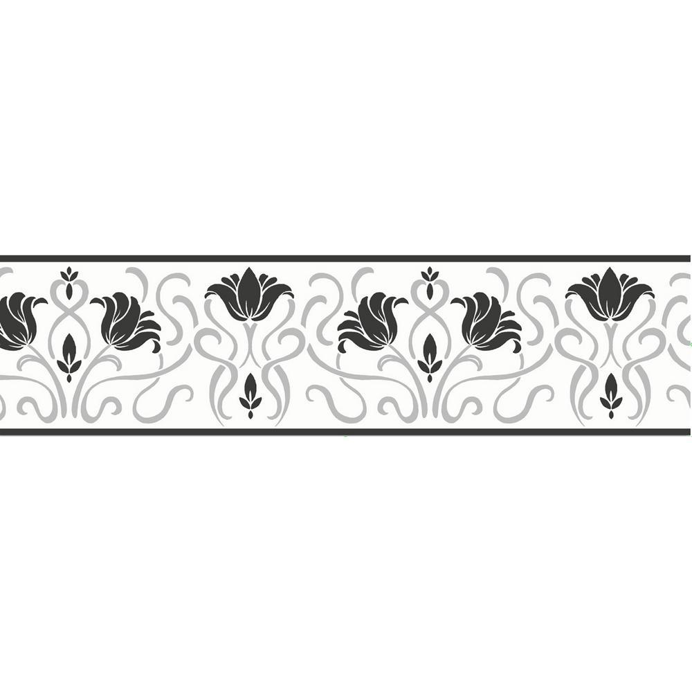 Luella Floral Peel and Stick Wallpaper Border