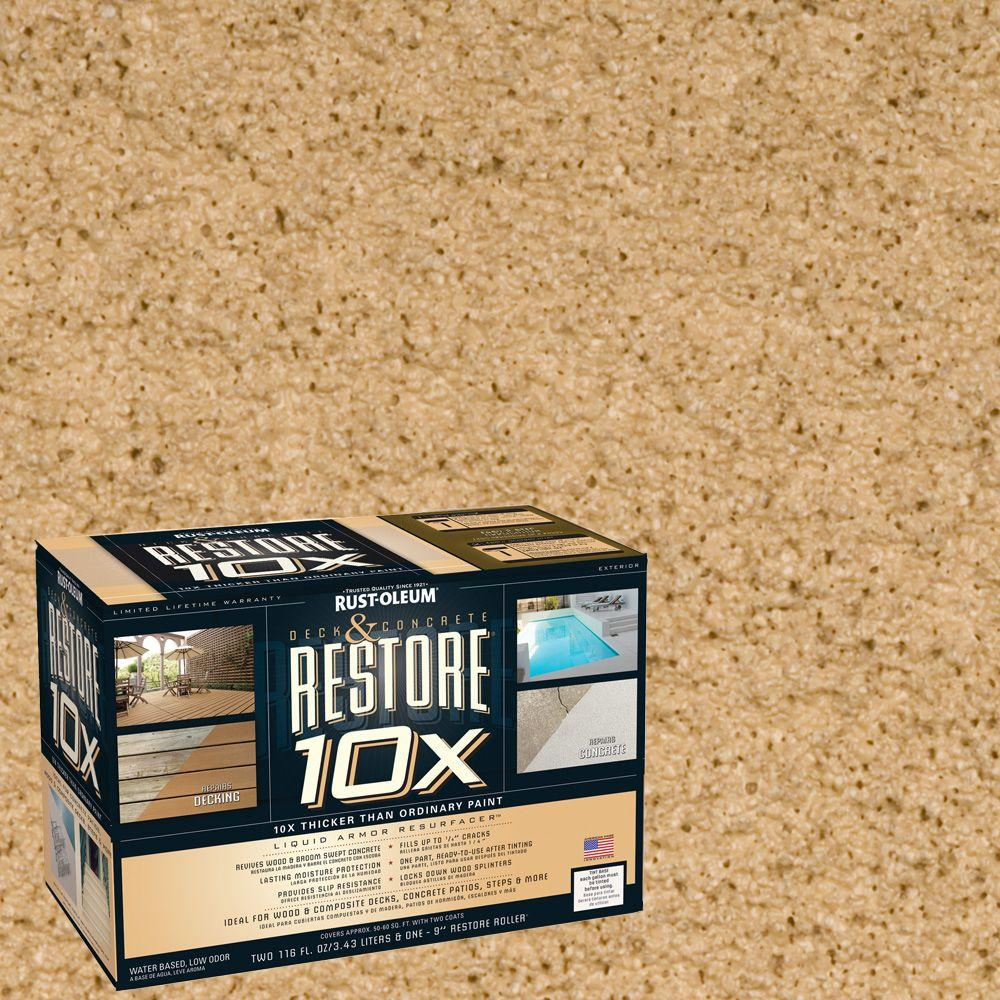 Rust-Oleum Restore 2-gal. Dune Deck and Concrete 10X Resurfacer