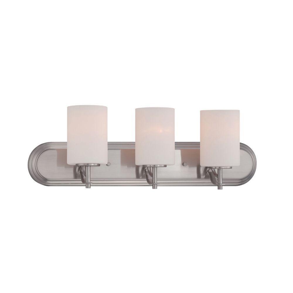 Cassina 3-Light Satin Platinum Bath Bar Light