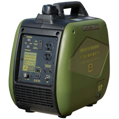 2,200-Watt Recoil Start Gasoline Powered Portable Digital Inverter Generator with Parallel Connection - CARB Approved