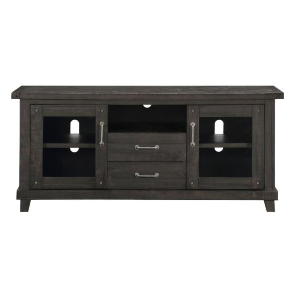Yosemite 68 in. Cafe Wood TV Stand Fits TVs Up to 68 in. with Storage Doors