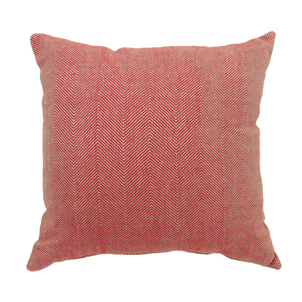 Jill 18 in. Contemporary Throw Pillow in Red (Pack of 2)