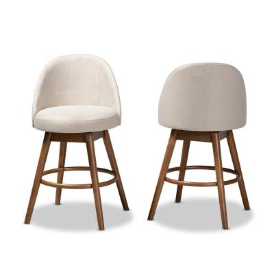 Carra 38 in. Beige Counter Stool (Set of 2)