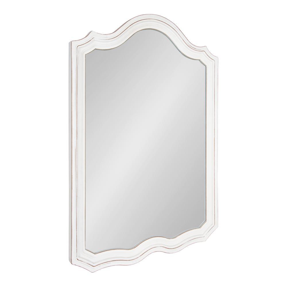 Medium Arch White Classic Mirror (36 in. H x 24 in. W)