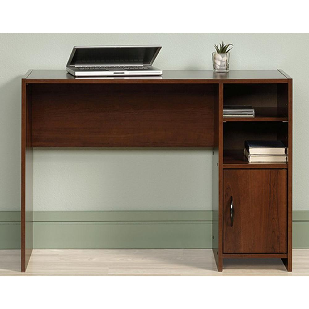 Sauder Beginnings Cinnamon Cherry Desk With Storage 415817 The Home Depot