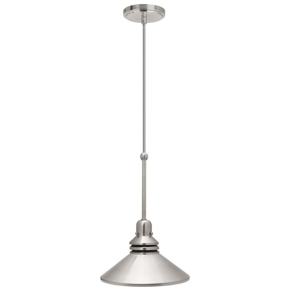 Hampton Bay 86 in. 1-Light Brushed Nickel Pendant Track Lighting Fixture