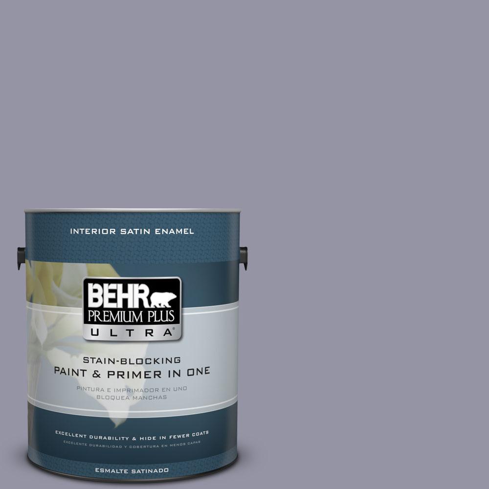 BEHR Premium Plus Ultra 1-gal. #640F-5 Ash Violet Satin Enamel Interior Paint
