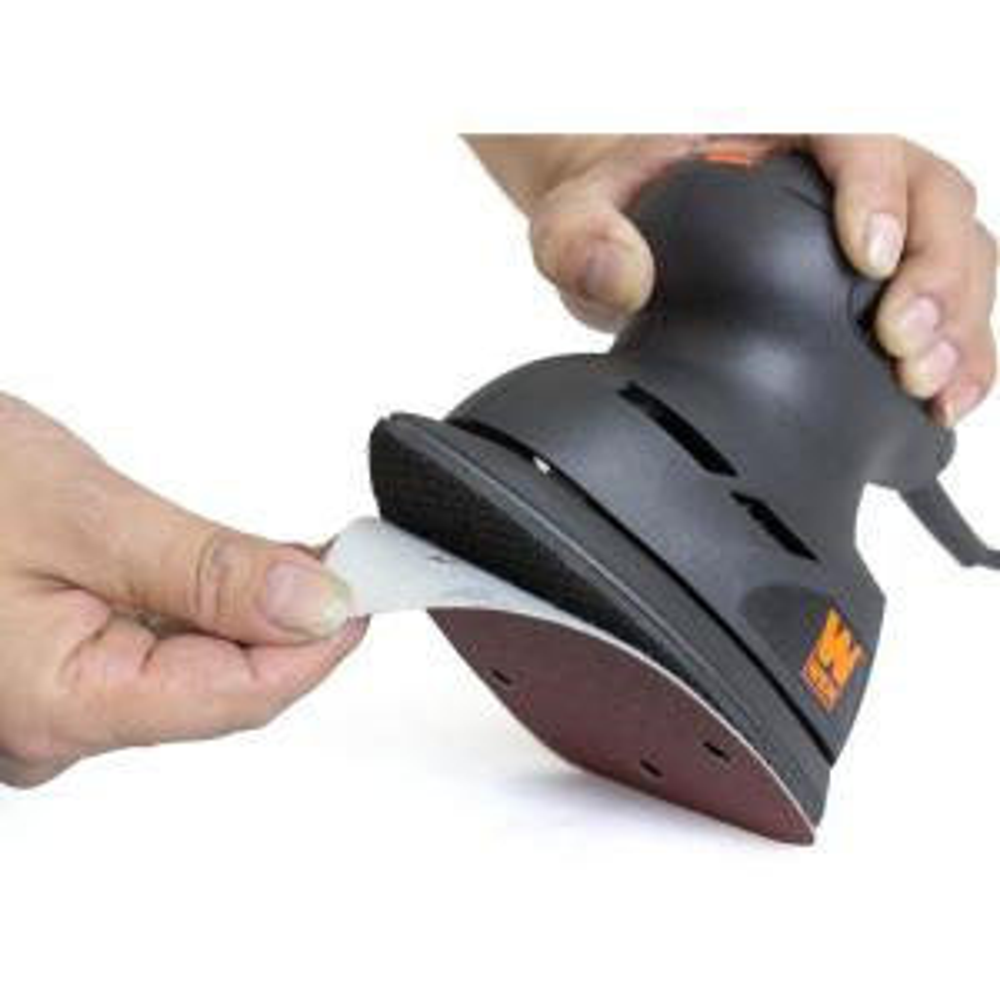 Wen Detailing Palm Sander 240-Grit Hook and Loop Sandpaper (10-Pack) from Packaged Sandpaper