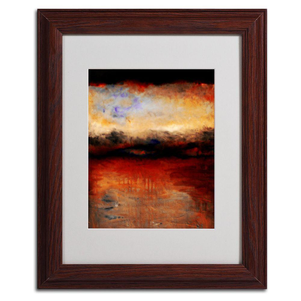 Trademark Fine Art 11 in. x 14 in. Red Skies at Night Matted Framed Art