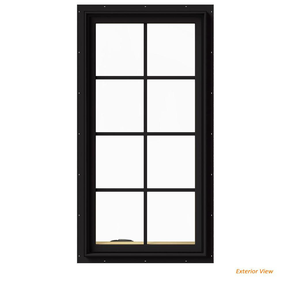 large casement windows weathershield contemporary jeldwen 24 in 48 w2500 series black painted clad wood left