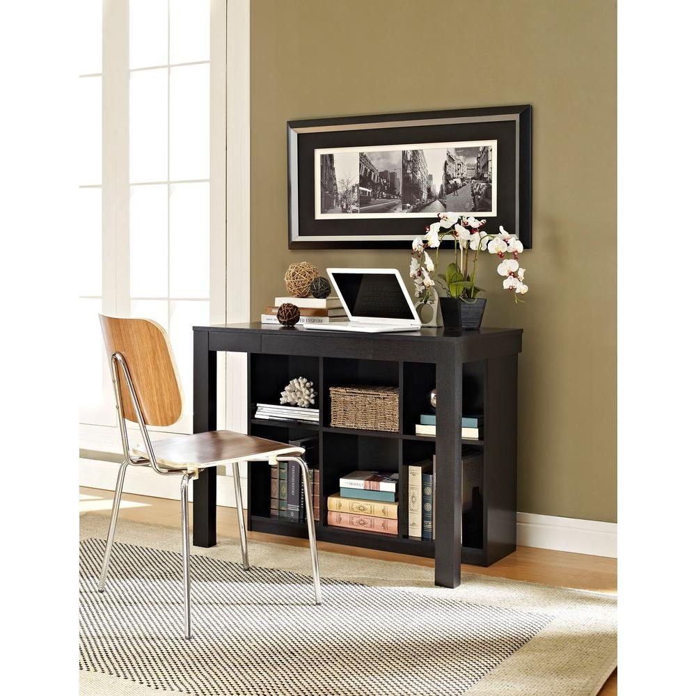 Altra Furniture Parsons Black Oak Desk