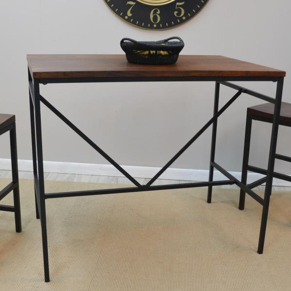 Carolina Cottage Aileen Rich Chestnut and Black Pub/Bar Table CF4226CHETBK