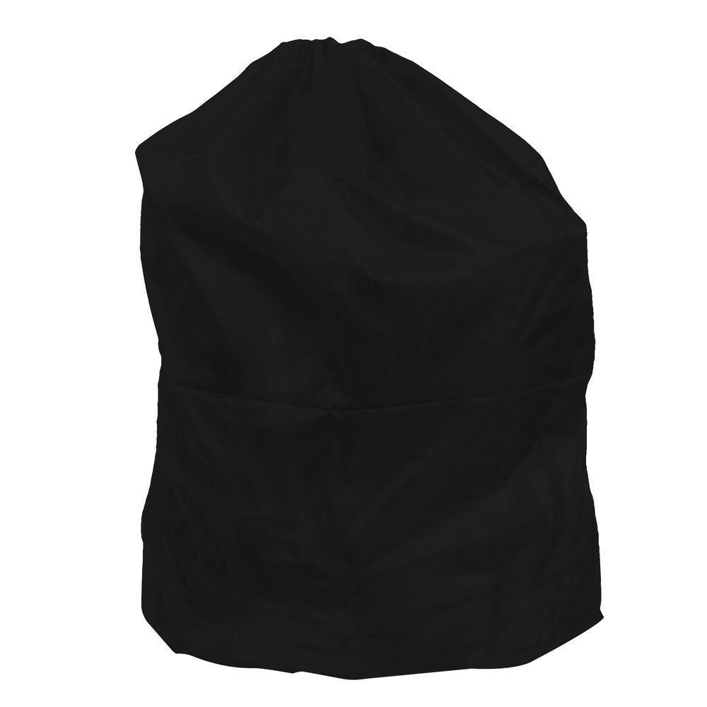 Lavish Home Jumbo Sized Nylon Laundry Bag In Black