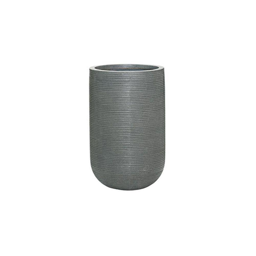 11 in. x 18 in. Rough Grey Round Fibercement Rough Pot