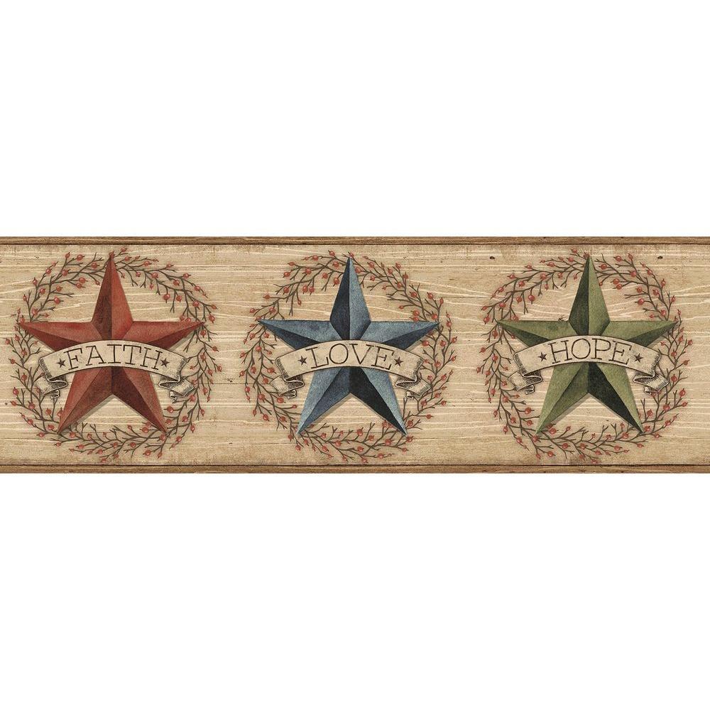 Faith Barn Star Wallpaper Border
