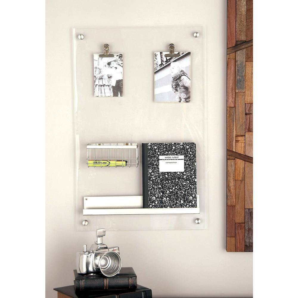 Silver Acrylic Memo Board 56993 The Home Depot