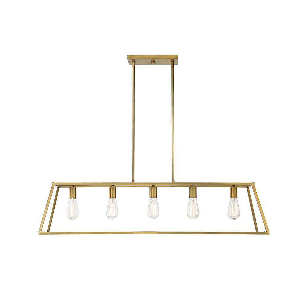 Filament Design 5-Light Warm Brass Chandelier