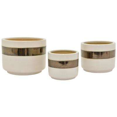 10 in. Ceramic Planters (3-Set)