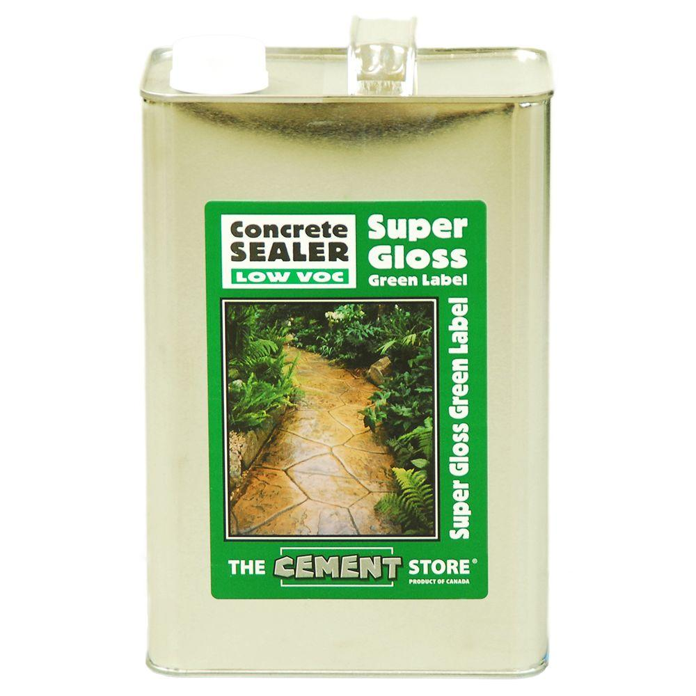 The Cement Store 1 gal. Porous Concrete and Masonry Solvent-Based Water Repellent Wear Coat Acrylic Concrete Sealer