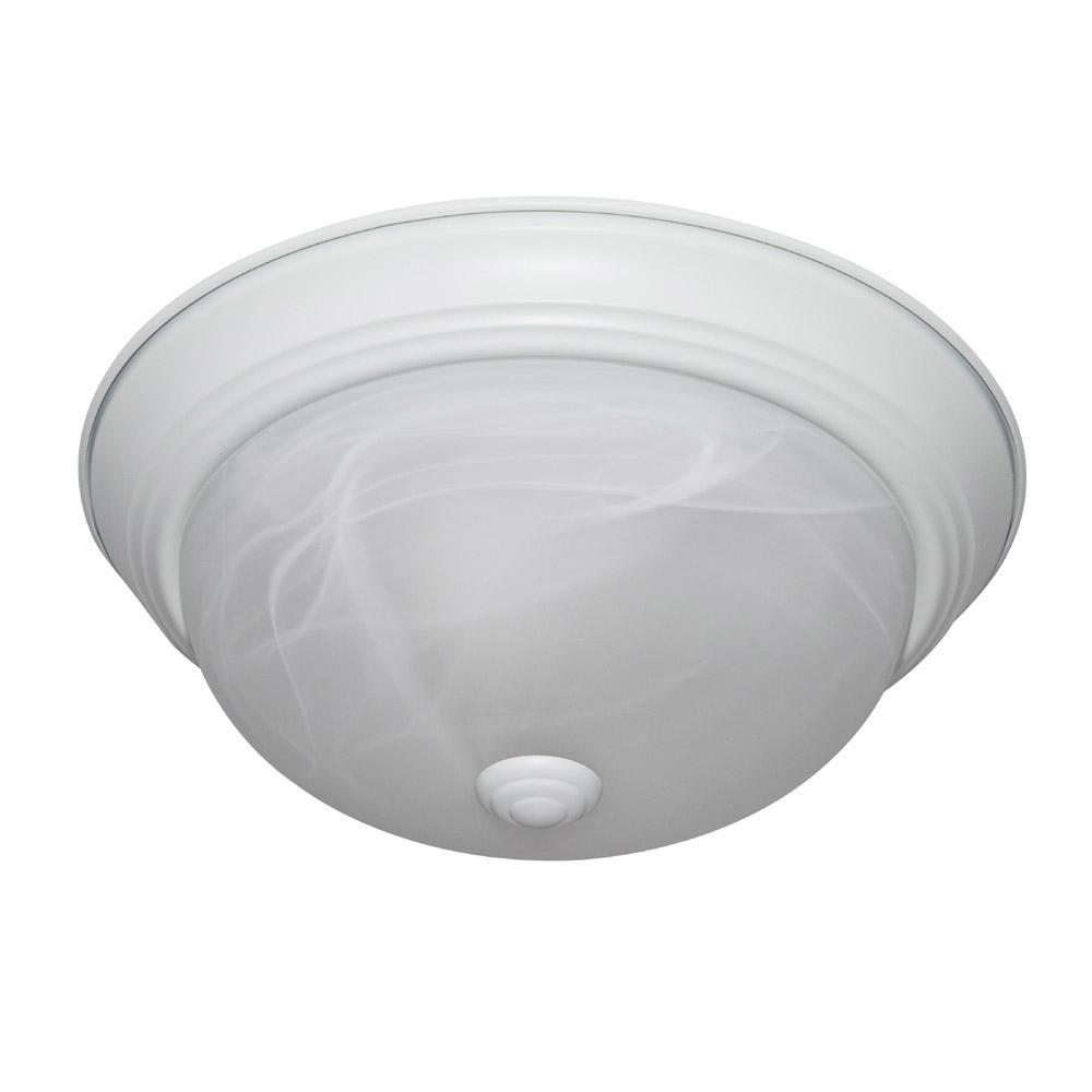 Decorative Flushmount 11'' Small 2-Light White Ceiling Flush Mount