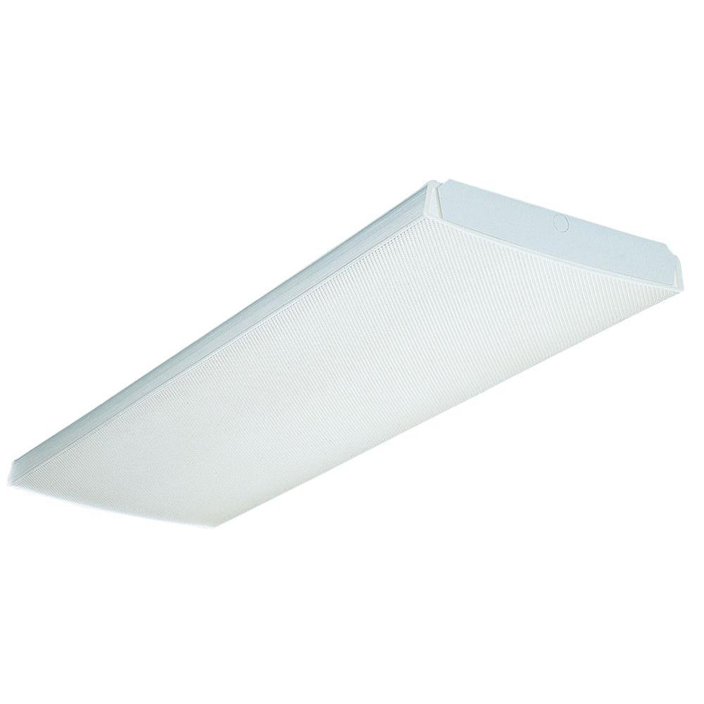 Lithonia Lighting Lb 4 Light White Wraparound 32 Mvolt 1 Mvis Wiring Multiple Fluorescent Fixtures Free Download
