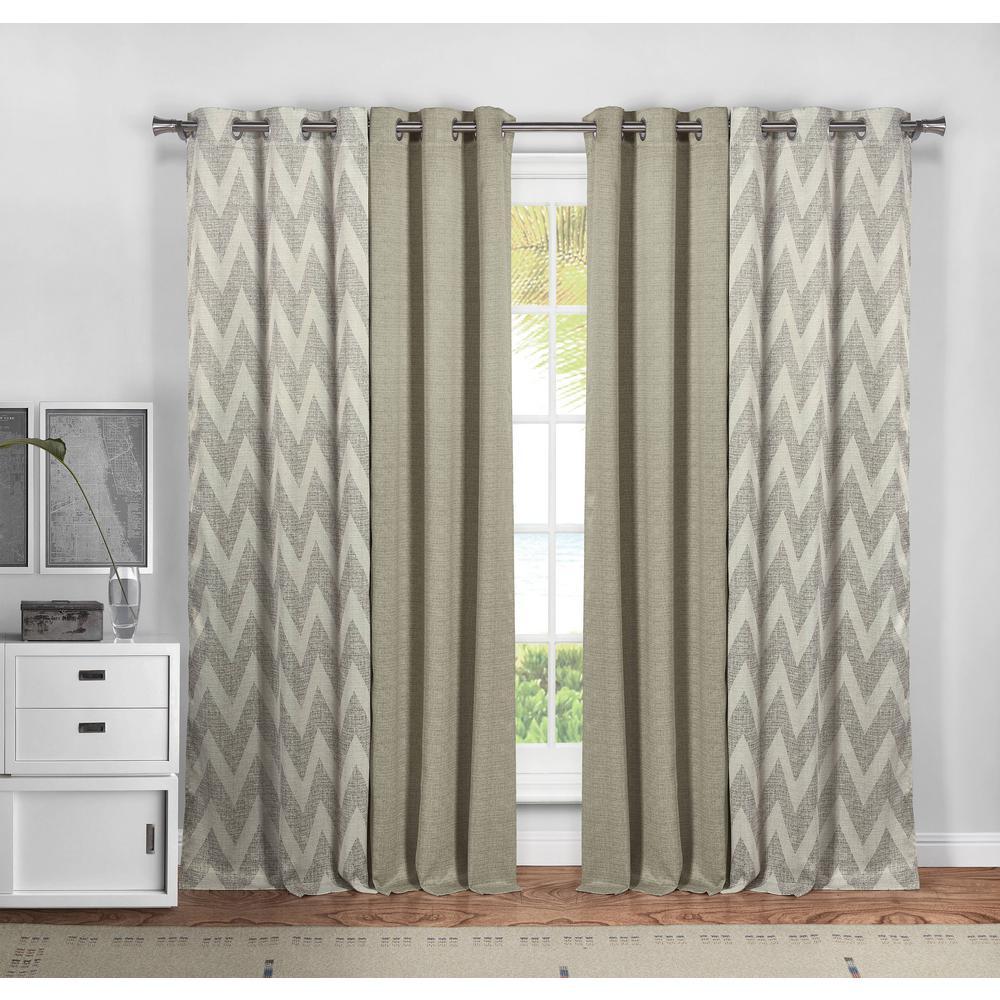 Kelvin Erinne Window Curtains Taupe
