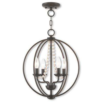 Arabella 4-Light English Bronze Convertible Chandelier