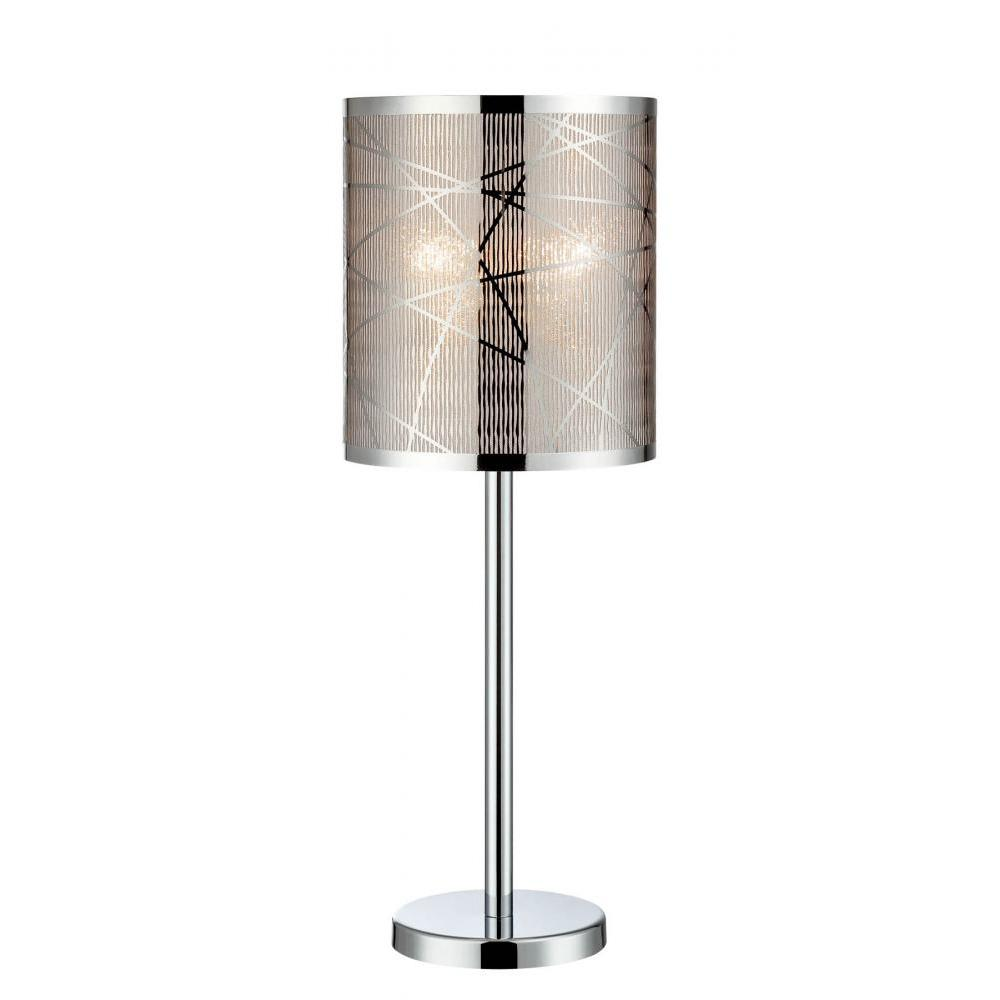 25.5 in. Polished Chrome Table Lamp