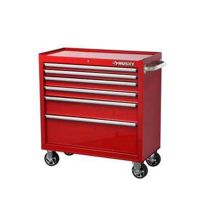 36 in. 6-Drawer Roller Tool Cabinet, Red