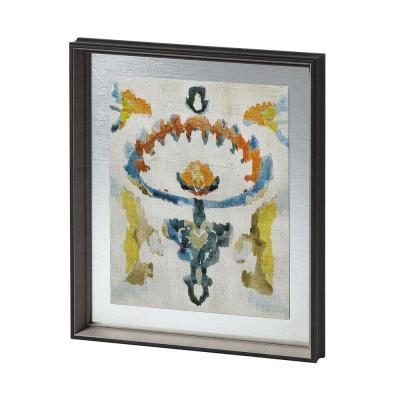 Bohemian Ikat VI Colorful Pattern Framed Art Print (22 in. x 26 in.)