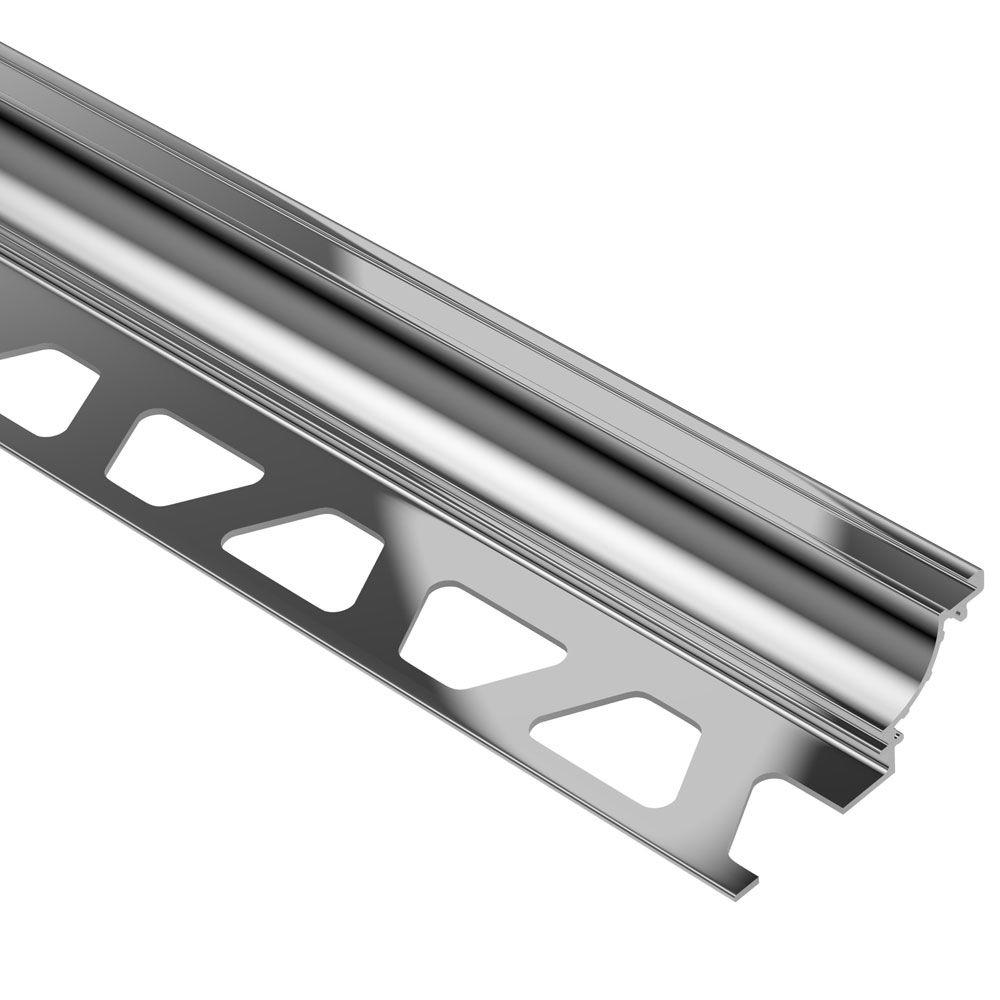 Schluter Dilex Ahk Polished Chrome Anodized Aluminum 1 2 In X 8 Ft
