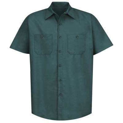Men's Size L (Tall) Spruce Green Industrial Work Shirt