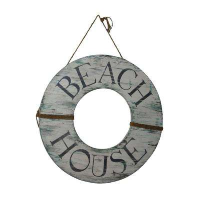 40 in. x 40 in. Beach House Wood Sign